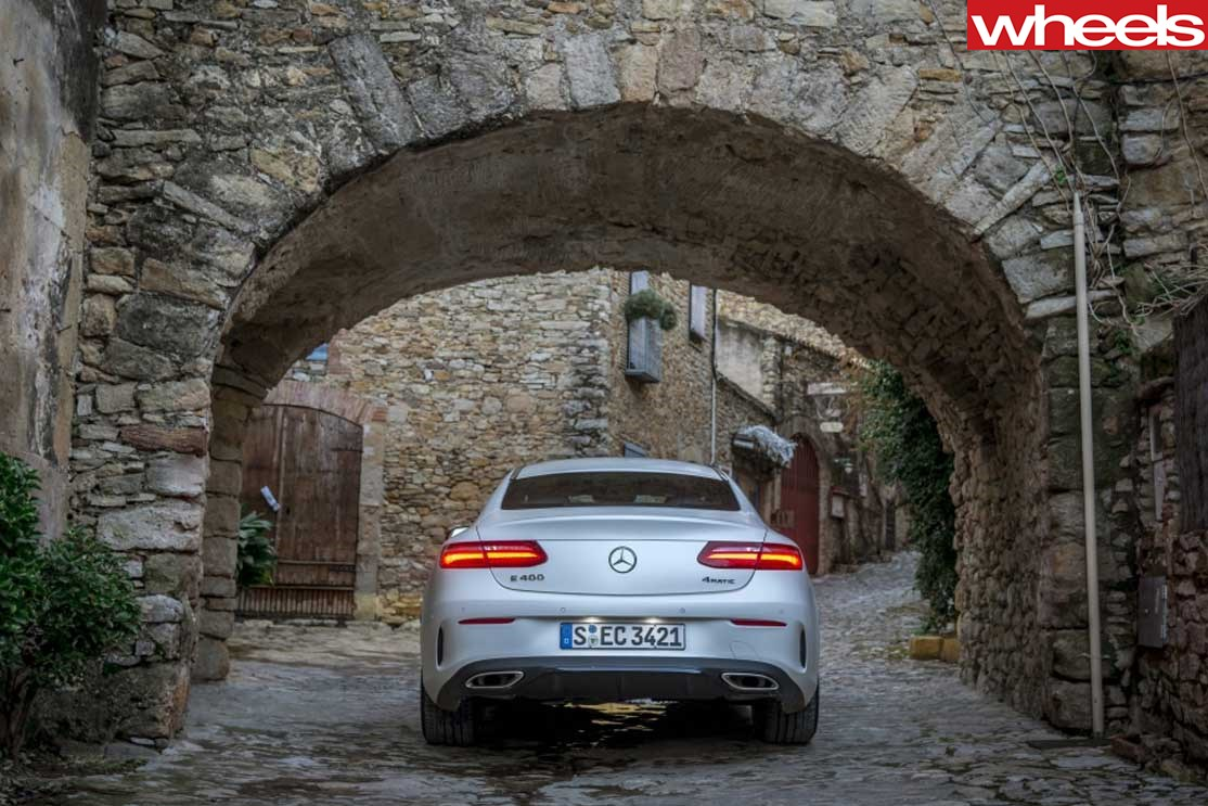 Back of Mercedes Benz e-class coupe
