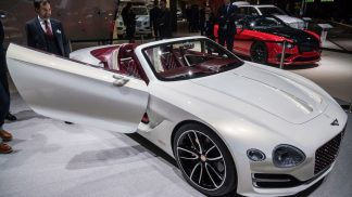Bentley concept car 2017 convertible white