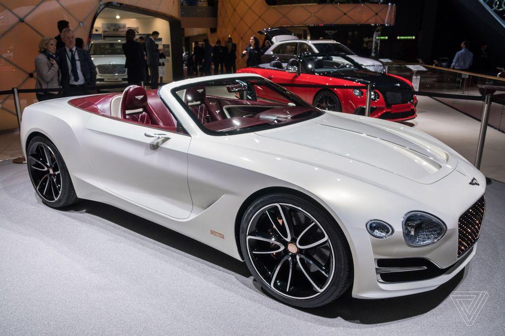 Bentley concept car 2017 convertible white
