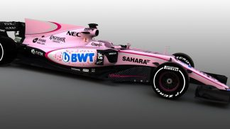 Pink F1 BWT Racecar